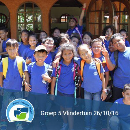 Groep 5 naar de Vlindertuin 26/10/2016