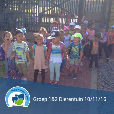 Groep 1&2 naar de Paramaribo Zoo op donderdag 10 november 2016