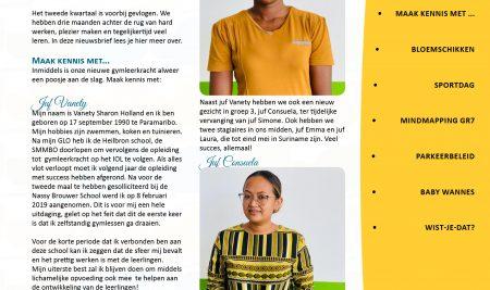 Nieuwsbrief 2e kwartaal 2018-2019