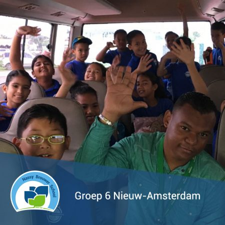 Groep 6 naar Nieuw-Amsterdam